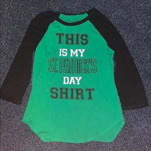 Green St. Patrick's day shirt, size large